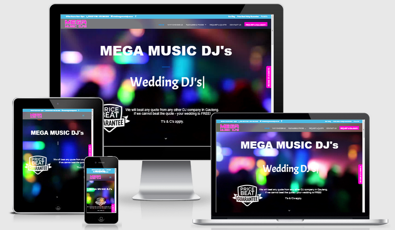 website redesign mega music dj's